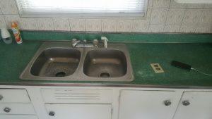 before sink