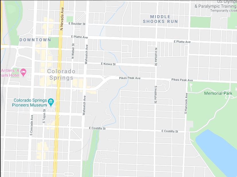 Colorado Springs real estate map