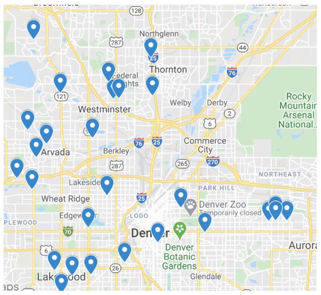 closed house hack map denver