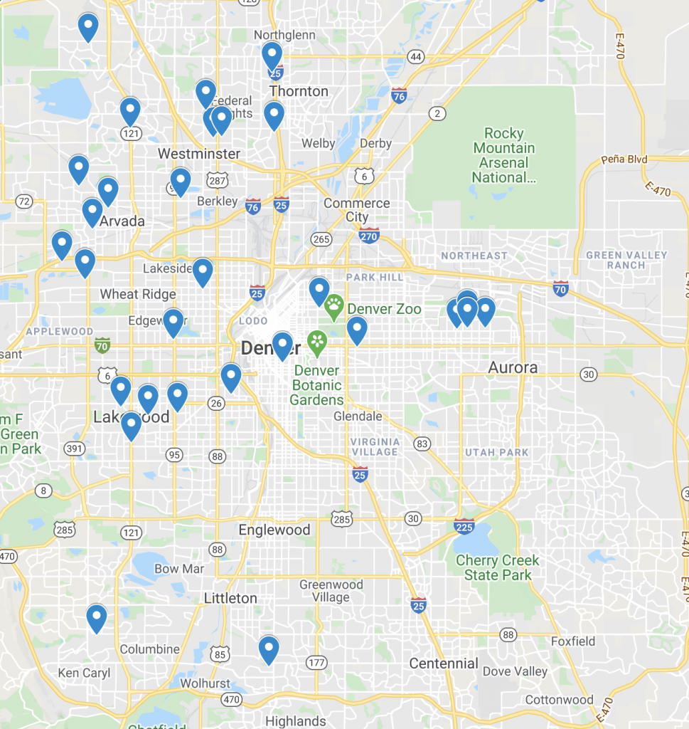 house hack map denver