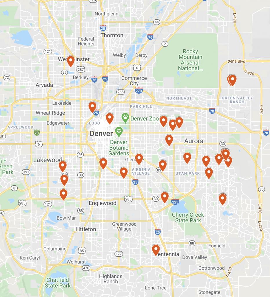 rental property map denver