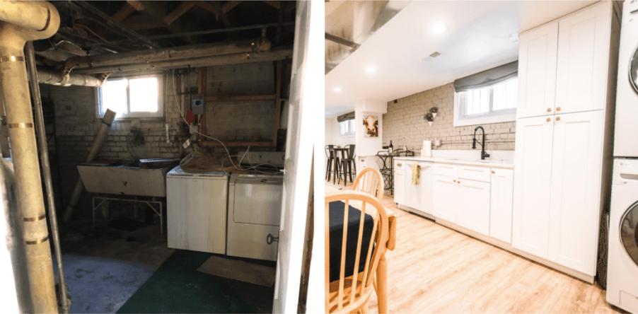 Denver home renovation pop top and basement rebuild kitchen remodel