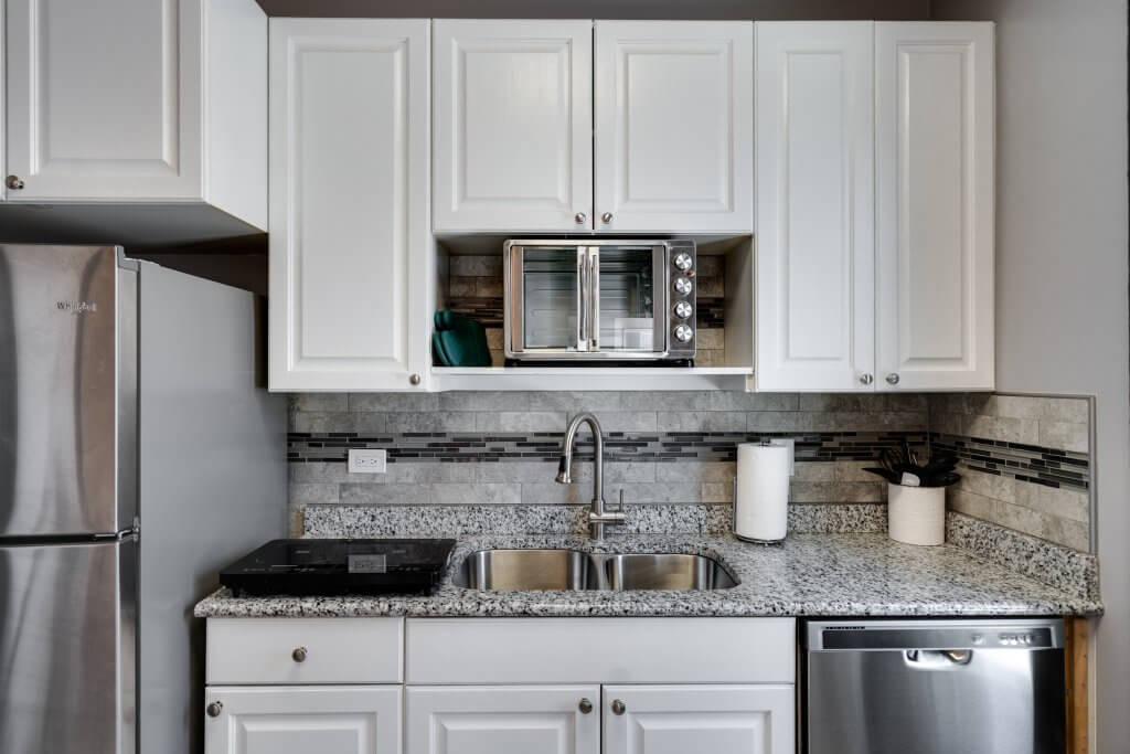 Kitchen of ADU rental in Denver LoHi home