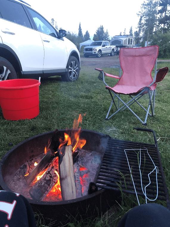 Colorado camping firepit