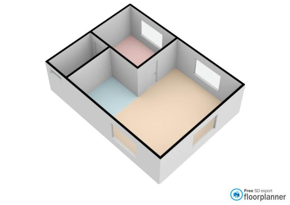 house hack 3D floorplan