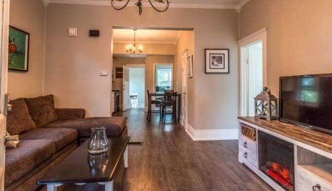 1895 duplex rental in Colorado Springs living room