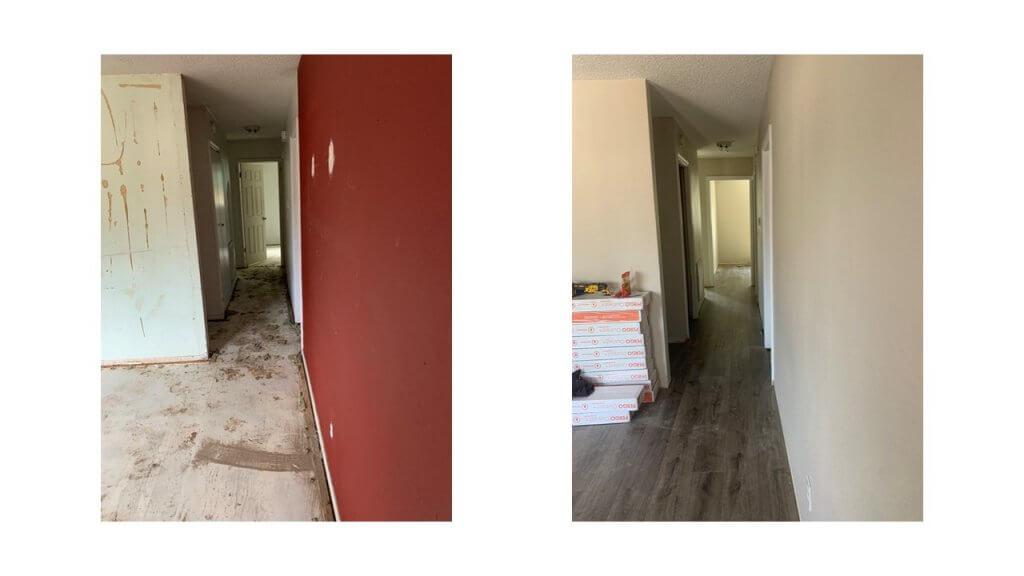 paint and flooring remodel in Colorado Springs rental property