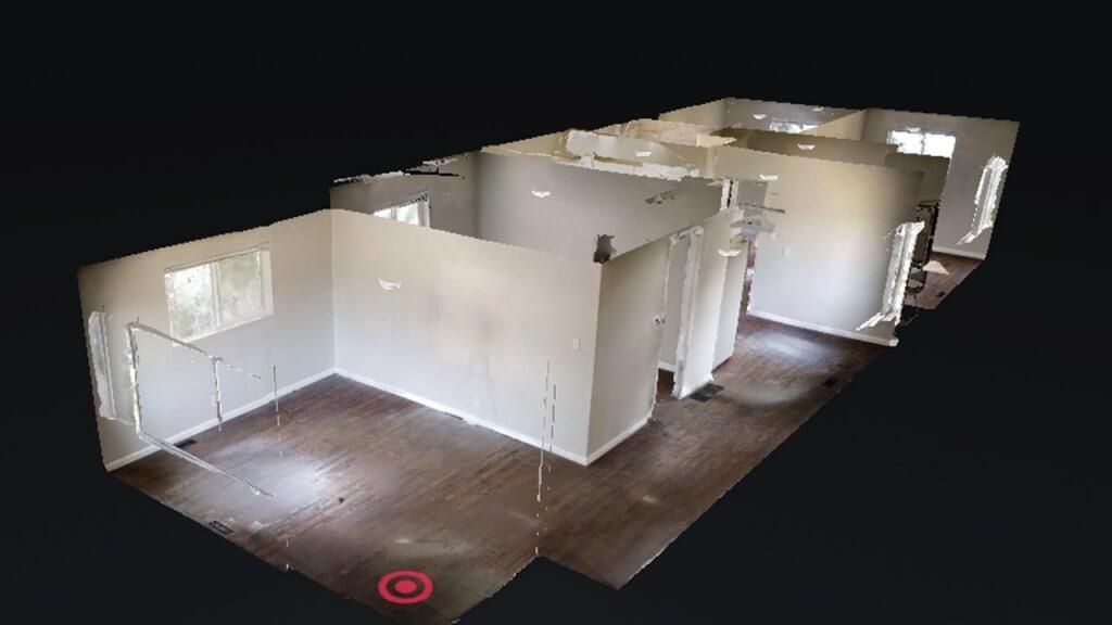 3D tour of rental property