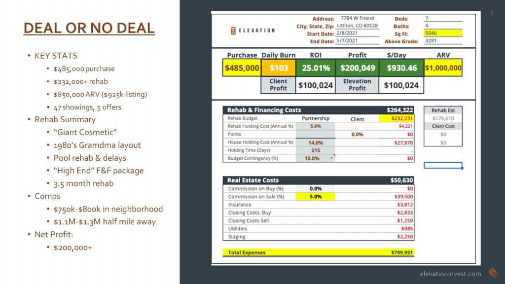 flip analysis spreadsheet